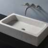 """c52lbo 100x100 - 26"""" Stone Forest Milano Stone Vessel Sink- Avail in 3 colors"""