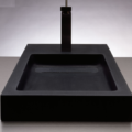 "c57a 120x120 - 28"" Stone Forest Bento Stone Vessel Sink"