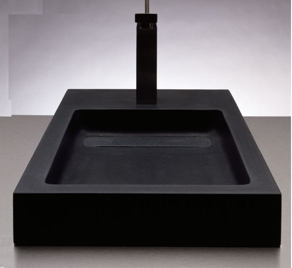 """c57a - 28"""" Stone Forest Bento Stone Vessel Sink"""