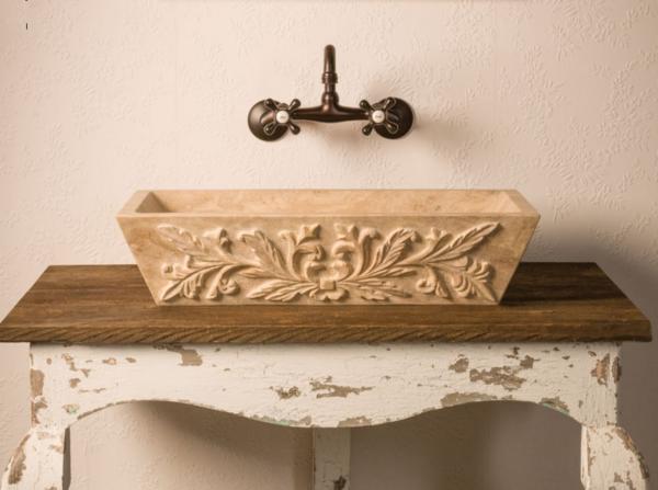 "c58tr 600x447 - 24"" Stone Forest Versailles Stone Vessel Sink-Travertino Romano"