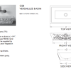 "c58trs 100x100 - 24"" Stone Forest Versailles Stone Vessel Sink-Travertino Romano"