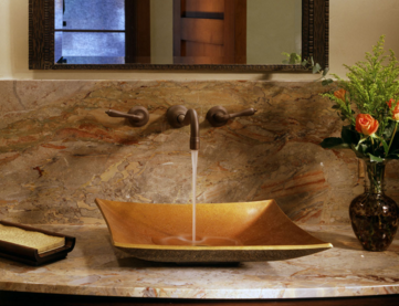 """cp09wb - 17"""" Stone Forest Bronze Zen Vessel Sink-Avail in 3 colors"""