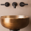 "cp20gb 120x120 - 15"" Stone Forest Bronze Oro Vessel Sink-Avail in 2 colors"