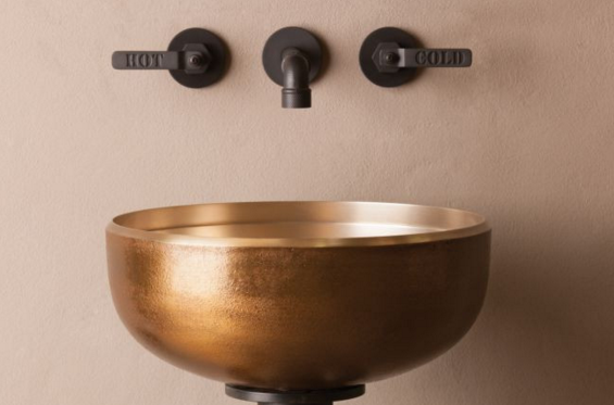 "cp20gb - 15"" Stone Forest Bronze Oro Vessel Sink-Avail in 2 colors"