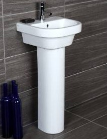 "ped - 15.75""  Lacava Piazza Wall Mount Sink-Optional Shroud & Pedestal"