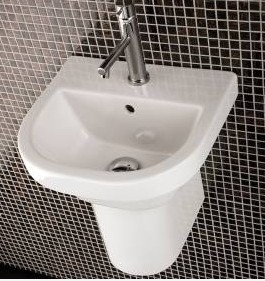 "shroud - 15.75""  Lacava Piazza Wall Mount Sink-Optional Shroud & Pedestal"