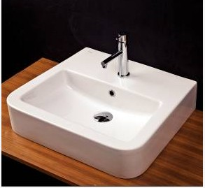 """ssr11a - 22 7/8"""" Lacava Open Space Wall Mount Sink-Optional Towel Bar"""