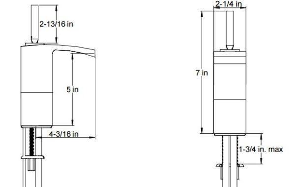 F20115BNS 600x380 - Artos Quarto Semi-Vessel Faucet w/joystick