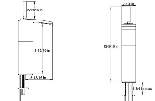 F20117S 600x391 - Artos Quarto Vessel Faucet w/joystick