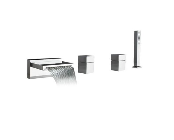 F20210 600x481 - Artos Quarto l Roman Tub set w/handshower & cube handle