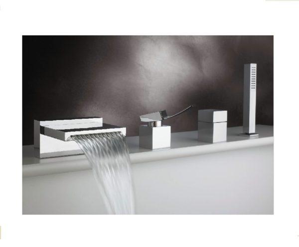 F2022 600x495 - Artos Quarto Roman Tub set w/handshower-4-Hole
