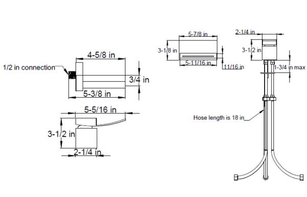 F2024s 600x385 - Artos Quarto Wall Mount Tub Filler with Deck Mount Control