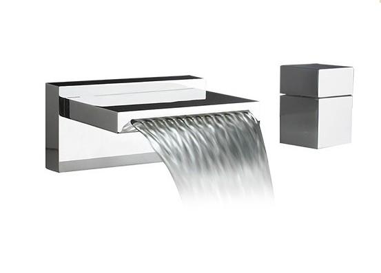 F2029 - Artos Quarto Waterfall Roman Tub set w/cube handle