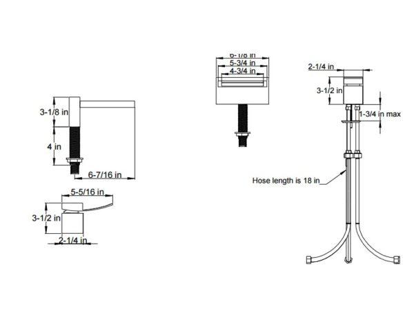 F202ALT3S 600x464 - Artos Quarto Roman Tub-Open Spout Lever Handle