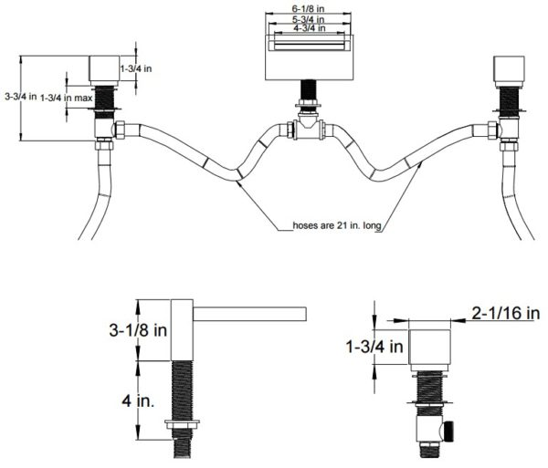 F202ALT6S 600x513 - Artos Quarto Roman Tub Faucet-3 Hole