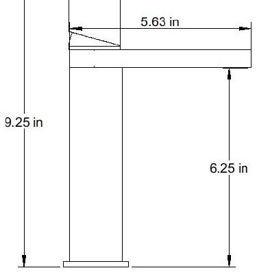 F3013S - Artos Otella Contemporary Semi-Vessel Faucet
