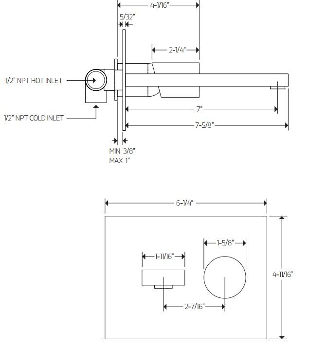 F3016S - Artos Otella Wall Mount Faucet
