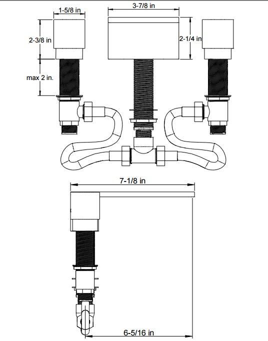 F3023S - Artos Otella  Roman Tub set