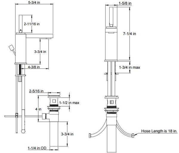 F4018S 600x512 - Artos Milan Contemporary Faucet w/joystick