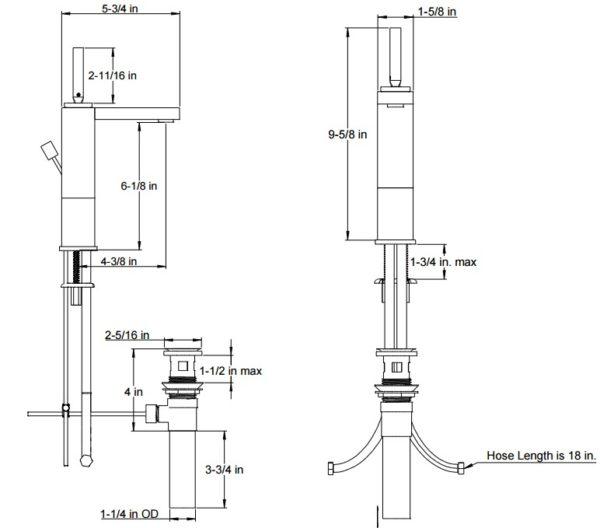 F4019S 600x528 - Artos Milan Semi-Vessel Faucet w/joystick