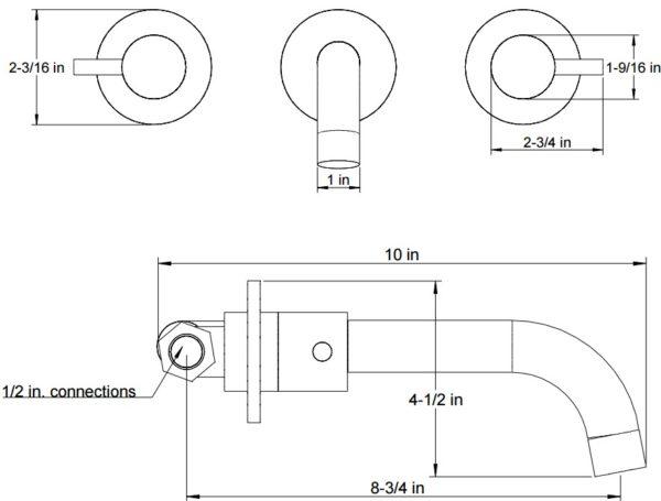 F5017S 600x455 - Artos Opera Wall Mount Faucet