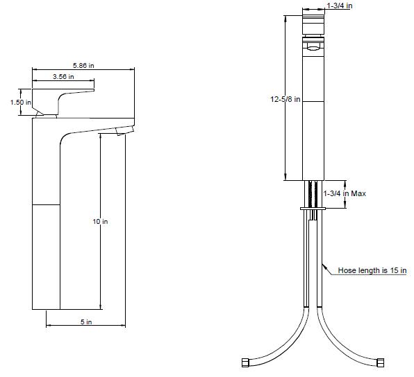"F7013s - Artos Safire  Faucet, Vessel 10"" Aerator"