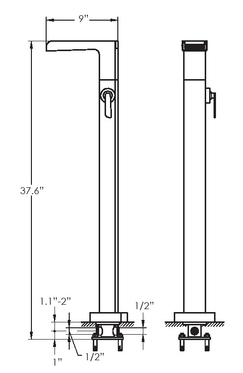 F8021S - Artos Kascade Free Standing Tub Faucet