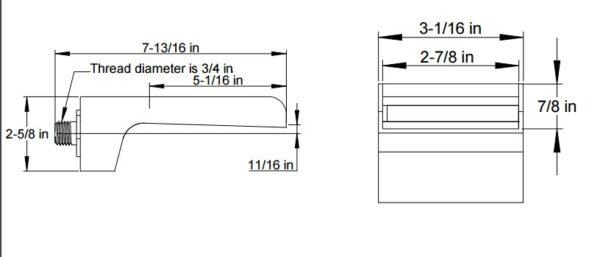 F8023S 600x257 - Artos Kascade Wall Mount Tub Filler