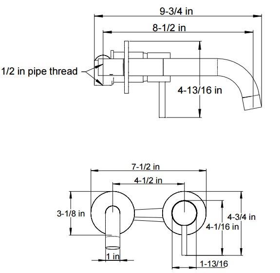f5018s - Artos Opera Wall Mount Faucet