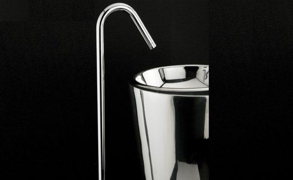 0104H1A 600x369 - Lacava Minimal Floor Standing Faucet-w/mixer