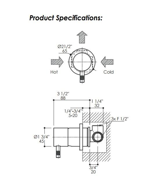 0140SPS - Lacava Minimal Floor Standing Faucet-w/mixer