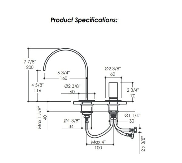 13010S 600x537 - Lacava Arch Two Hole Faucet