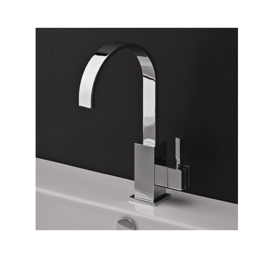 Lacava Kubista Single Hole Faucet High Arc Spout Bathroom Vanities