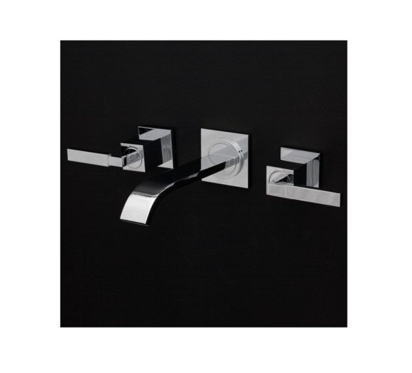 Lacava Kubista Wall Mount Faucet-3 Hole