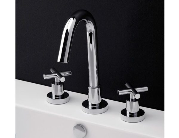 Lacava Cigno Widespread Faucet-Cross Handle