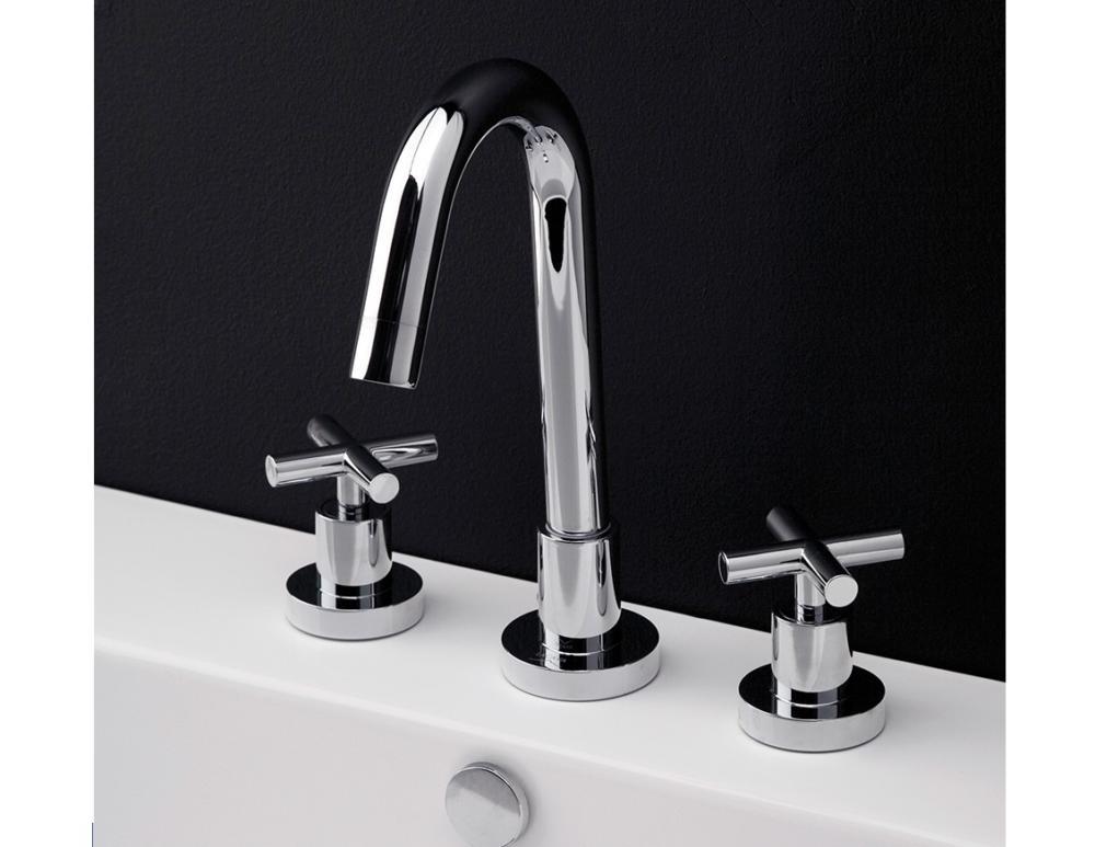 Lacava Cigno Widespread Faucet-Cross Handle - Bathroom Vanities and More