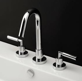 1583C - Lacava Cigno Widespread Faucet-Lever Handle