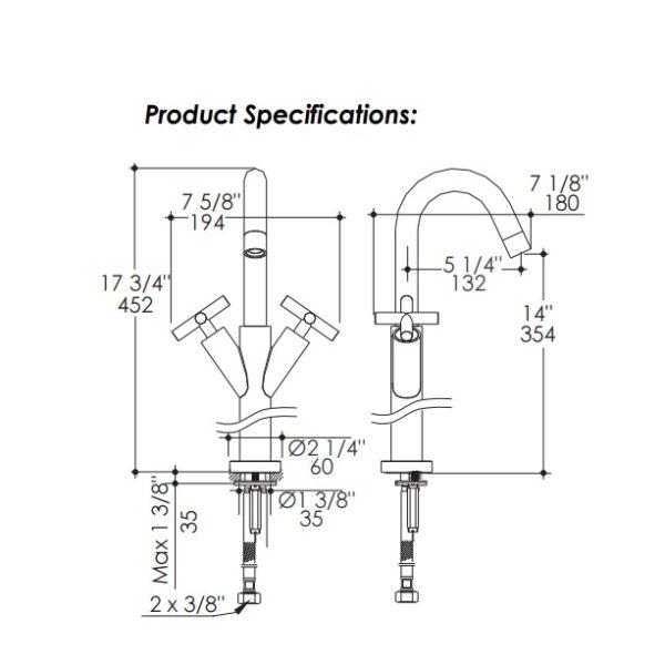 1591S 600x600 - Lacava Cigno Vessel Faucet