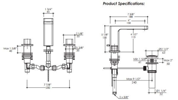 1803S 600x339 - Lacava Eleganza Faucet-Lever Handle