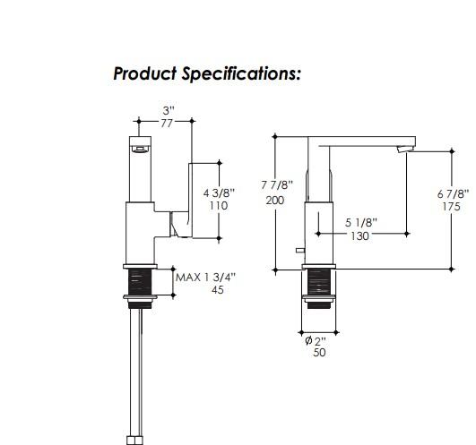 2811S - Lacava Tre Single Hole Faucet