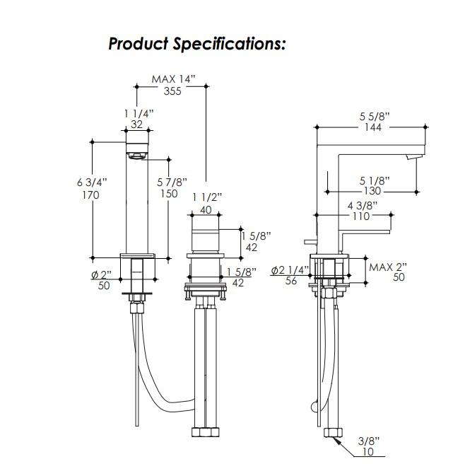 2812S - Lacava Tre Two Hole Faucet