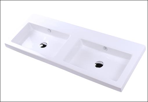 "5214 - 48"" Lacava Aquaquattro Wall Mount or Vessel Double Sink 5214"