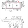 "5214s 100x100 - 48"" Lacava Aquaquattro Wall Mount or Vessel Double Sink 5214"