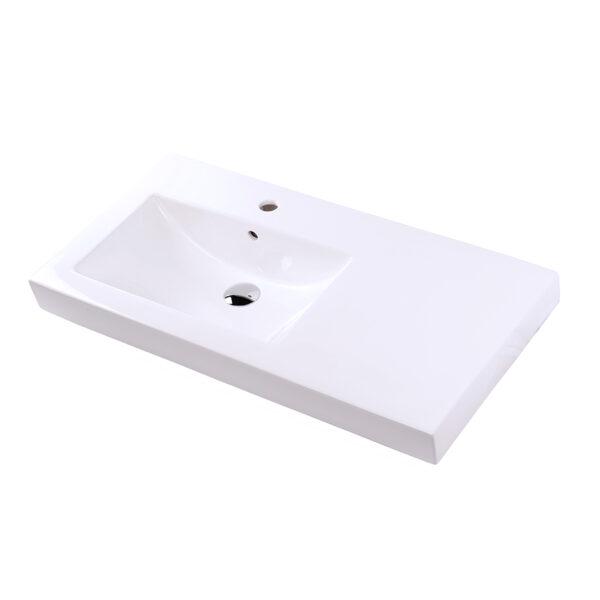 """5457L 600x600 - 35.5""""  Lacava Aquaquattro Vanity Top Sink 5457L or 5457R"""